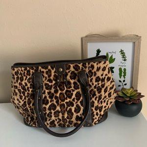J.Crew leopard print large purse